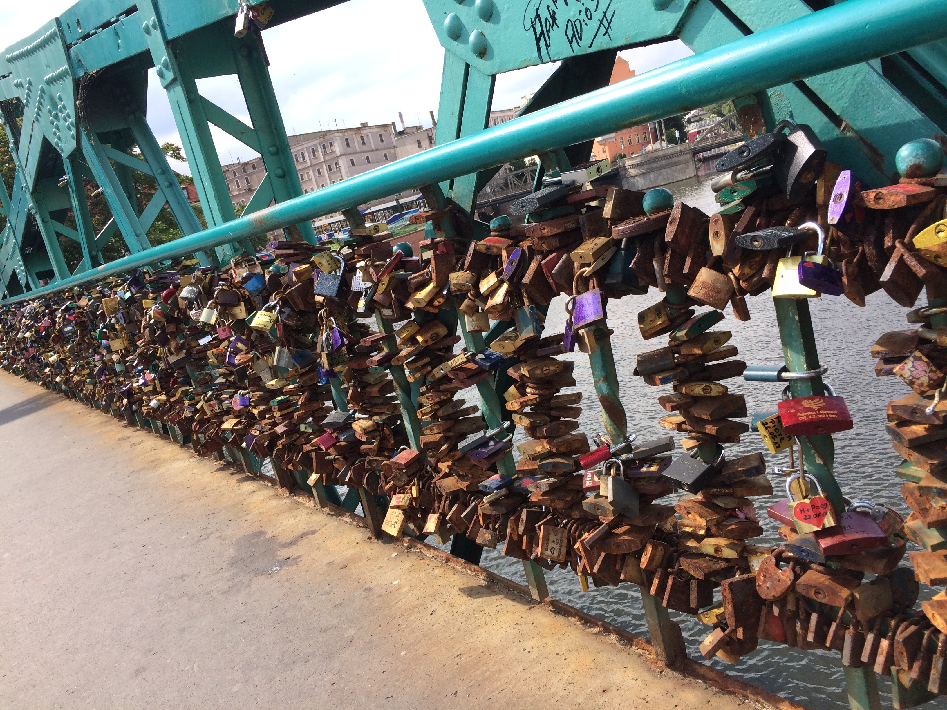 Poland Wroclaw Tumski Bridge Love-Locks