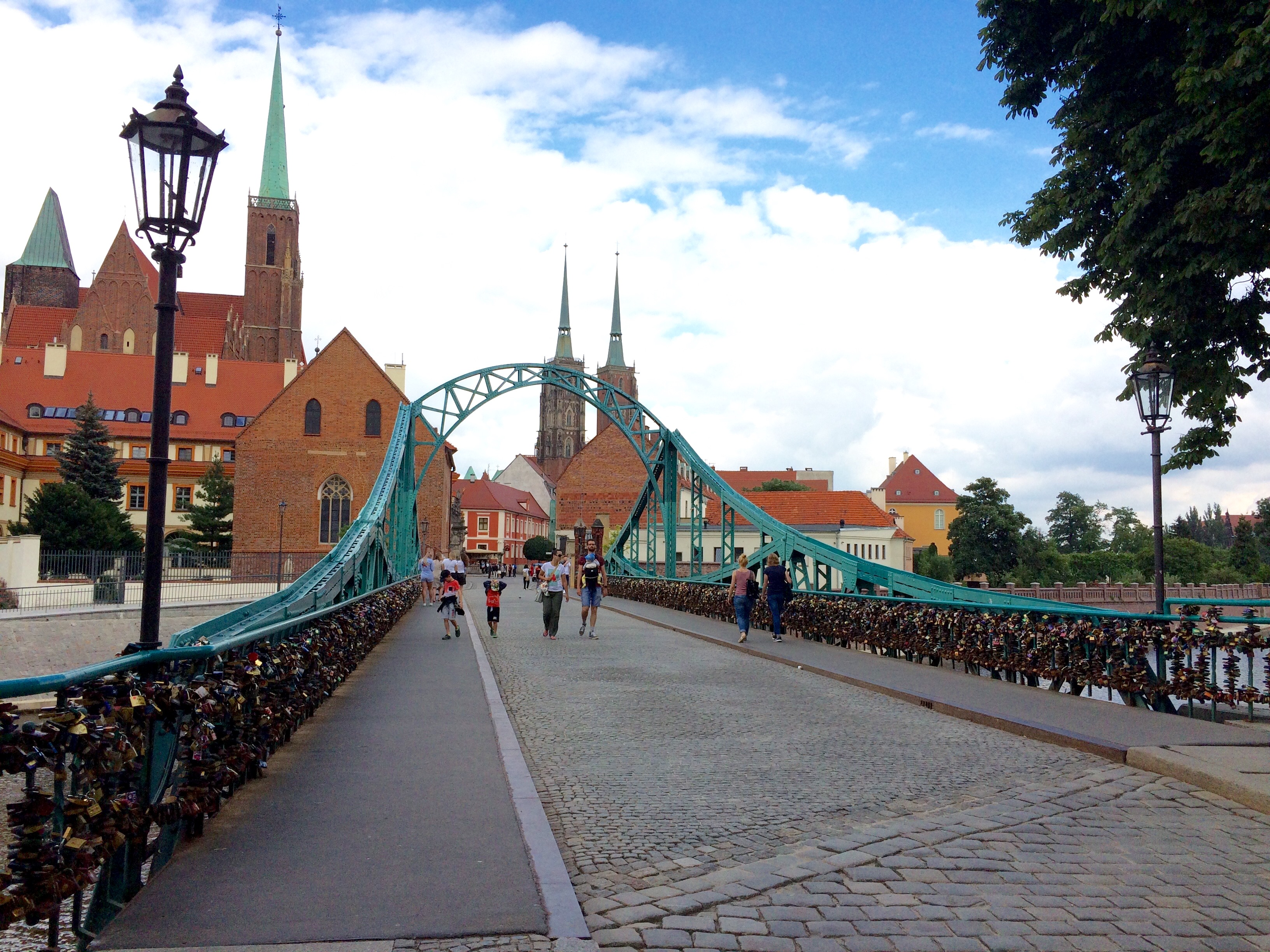 Poland Wroclaw Tumski Bridge