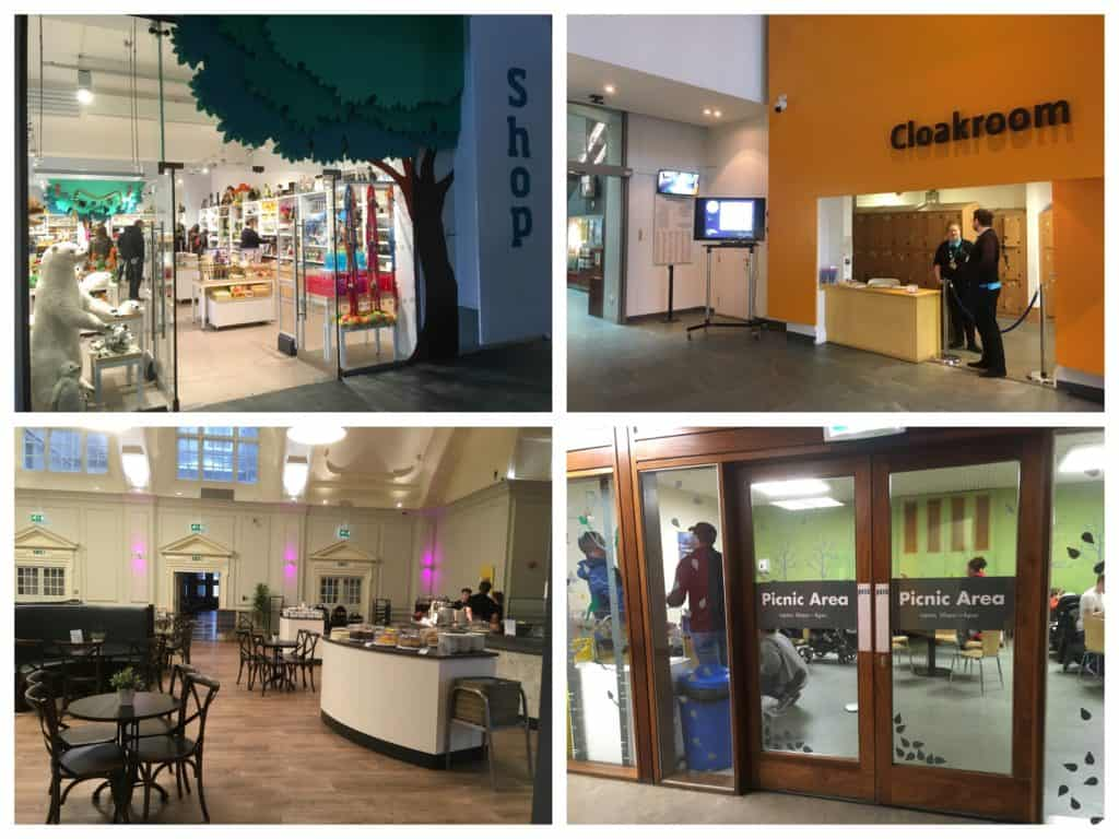Facilities at the World Museum Liverpool, including cafe, cloakroom, picnic area and cafe