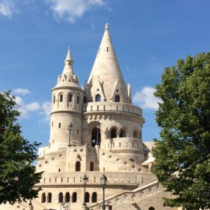 One of the many circular turrets of the Fisherman's Bastion in Budapest